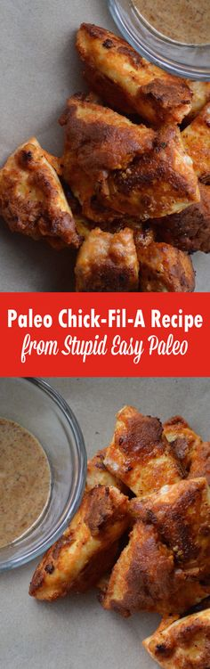 Make this Paleo Chick-fil-A at home for healthier chicken nuggets and a take on the fast food favorite! The secret is in the pickle juice! It's grain-free, gluten-free, paleo and totally kid approved. Paleo On The Go, Paleo Whole 30, How To Eat Paleo, Going Paleo, Healthy Foods, Dieta Paleo, Low Carb Recipes, Whole Food Recipes, Cooking Recipes