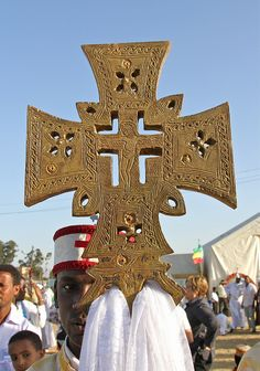 Ethiopia - Ethiopian Orthodox Tewahedo Church Timkat Celeberation - A Beautiful Ethiopian Processional Cross
