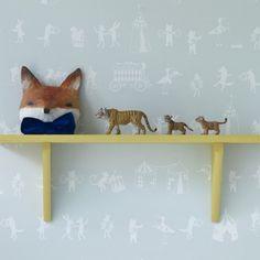 Animal Parade Wallpaper, Mint