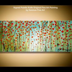enormous birch forst....knife painting by Karenas Fine Art