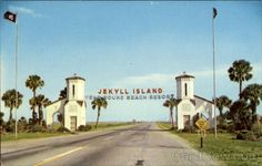 Love this old picture of the entrance to Jekyll Island, Georgia. This is how I remember it when we lived there.