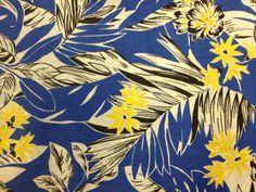 Vintage Tropical Print Fabric