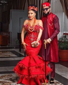 Nigerian Wedding Dresses Traditional, Traditional Wedding Attire, African Traditional Dresses, Traditional Weddings, African Lace Dresses, Latest African Fashion Dresses, African Wedding Attire, African Attire, Couples African Outfits