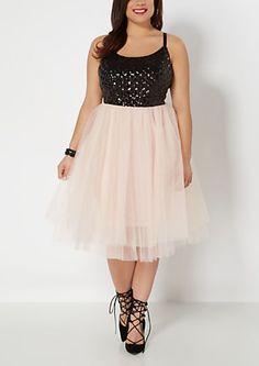Plus Sequined Diamonds Party Dress | rue21