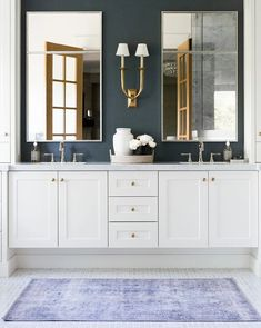 O'Connor Mirror – McGee & Co. Dyi Bathroom, Steam Showers Bathroom, Bathroom Wallpaper, Bathroom Furniture, Modern Bathroom, Bathroom Cabinets, Bathroom Interior, Bathroom Designs, Parisian Bathroom