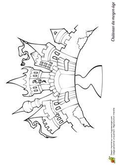 Dessin colorier d 39 un ch teau du moyen ge coloriages - Dessiner un chateau de princesse ...