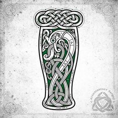 Irish beer serpent ☘️ for fun (Vector graphic in CorelDraw, workflow ) + t-shirt concept  Ирландский пивной (зелёный) змий ☘️ #celtic #celticart #celticknot #ornaments #arzarz #emblem #celticartlogo #artwork #drawing #Arzamastsev #siberia #celticdesign #knotwork #vectorart #pub #art #artist #draw #vector #workflow #cdr #corel #coreldraw #snake #beer #serpent #irishbeer #shamrock #змея #tshirt