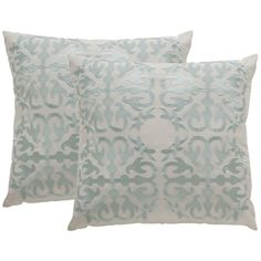 Shop for Safavieh Soleil Moroccan Indoor/ Outdoor Artic Blue 20-inch Square Throw Pillows (Set of 2). Get free shipping at Overstock.com - Your Online Home Decor Outlet Store! Get 5% in rewards with Club O!