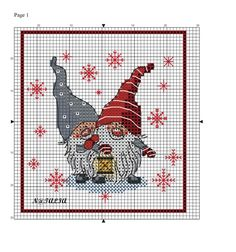 Elves cross stitch