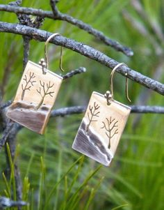 Handmade Into The Forest Earrings