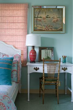 erica bierman mix and matched colors eclectic-bedroom