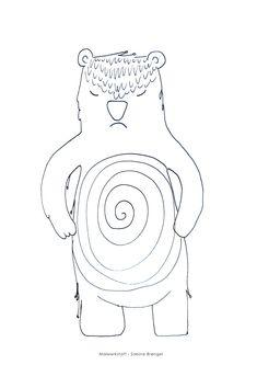 ichbinichbär - krafttiere zum ausmalen für kinder incl gratis videoanleitung | malvorlagen zum