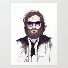 Joaquin Phoenix Art Print by Jesse Robinson Williams | Society6