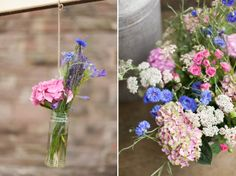 Pretty country garden flowers for a eco-friendly wedding. Photography by www.victoriaphippsphotography.co.uk