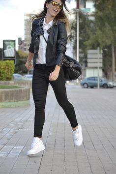 Blanco y negro 5-5-2014 Jacket #primark Pant #suiteblanco Top #Bershka