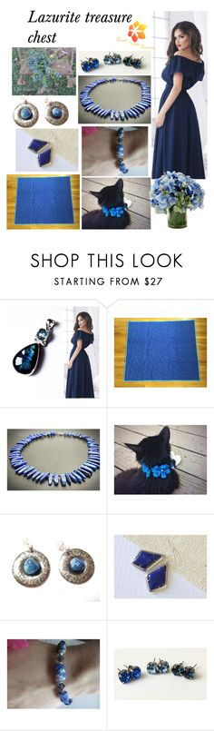 """Lazurite treasure chest"" by varivodamar ❤ liked on Polyvore featuring Lazuli, Creative Displays and modern"