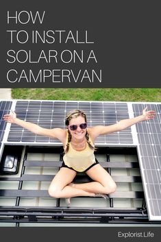 How to Design and Install Solar on a Camper Van Are you looking to go completely off the grid? The complete how-to guide for installing solar on a camper van. how to install solar panels Bus Camper, Camper Life, Sprinter Camper, Off The Grid, Van Life, Combi Ww, K Om, Vanz, Camper Van Conversion Diy