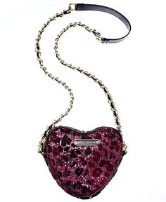 Betsey Johnson Handbag, Heart Crossbody - Juniors - Macy's