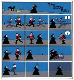 """""""The Little Nun"""" by Mark Newgarden from McSweeney's Quarterly Concern#13, 2004."""
