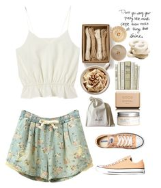 """sweet"" by madamitsa ❤ liked on Polyvore featuring Converse, Chanel, CÉLINE and H&M"