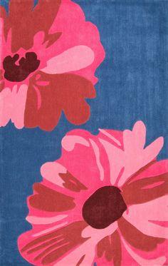 Cine Flora Pink Area Rug