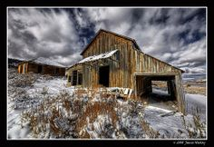 Gilmore - HDR by James Neeley, via Flickr. Located between Leadore and Mud Lake, Idaho, the ghost town of Gilmore is always a fun place to visit.