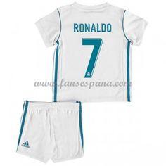 Camisetas Futbol Niños Real Madrid Cristiano Ronaldo 7 Primera Equipación  2017-18 a0eaeeec904a5