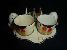 BURLEIGH WARE ART DECO BREAKFAST SET ON TRAY. THE MAKERS MARK IS JUST ON THE ONE EGG CUP. | eBay! Feb 2017. GBP25 list