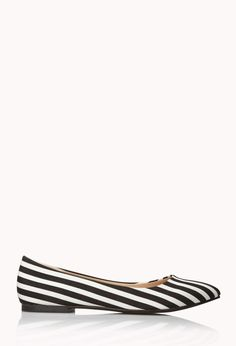 City-Chic Striped Flats #shoes #stripes