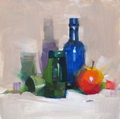 Apple and bottles -- Qiang Huang