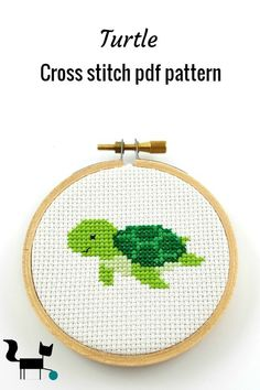 Fantastic Totally Free Cross Stitch projects Ideas This cute little sea turtle cross stitch pdf pattern can be used as part of a nautical themed home Cross Stitch Sea, Cross Stitch Letters, Cross Stitch Needles, Simple Cross Stitch, Cross Stitch Animals, Counted Cross Stitch Patterns, Cross Stitch Embroidery, Hand Embroidery, Cross Stitch Patterns Free Easy