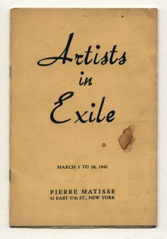 1942 Pierre Matisse Gallery ARTISTS IN EXILE catalog
