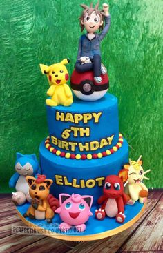 Elliot - Pokemon Birthday Cake  by Niamh Geraghty Perfectionist Confectionist
