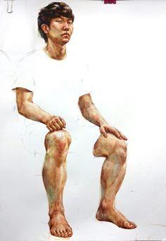 0번째 이미지 Watercolor Drawing, Watercolor Portraits, Watercolor Paintings, Life Drawing, Figure Drawing, Human Poses Reference, Body Sketches, Anatomy Drawing, Art Poses