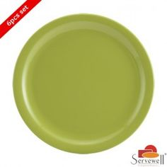 Servewell 6 Pc Round Side Plate Set - Green