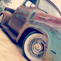Killer '55 all original Ford pickup.