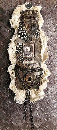 "another tree bark piece wall hanger "" remember """