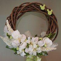 Prodané zboží uživatele jircice | Fler.cz Holiday Wreaths, Holiday Decor, Grapevine Wreath, Grape Vines, Floral Arrangements, Spring, Ideas, Wreaths, Craft