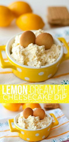 Lemon Cream Pie Cheesecake Dip dessert