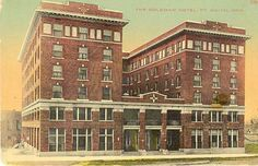 Goldman Hotel on North Street Fort Smith, Arkansas, Multi Story Building, History, Street, Historia, Walkway