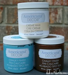 Americana Decor chalky finish paint ... found at Home Depot online #ad