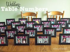 So fun!! Pictures when you were little. Wedding Table Numbers