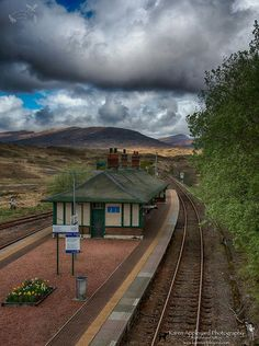Rannoch Moor Train Station, Scotland