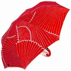 Compact Umbrellas by Merimekko - Kiku, Red - Travel Umbrellas, Rain Umbrellas, Fashion Umbrellas, Red Umbrellas - Umbrellas.net - Seattle ($20-50) - Svpply