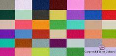 Carpet Set in 40 Colours!