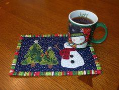 Quilting: Happy Snowman Mug Rug
