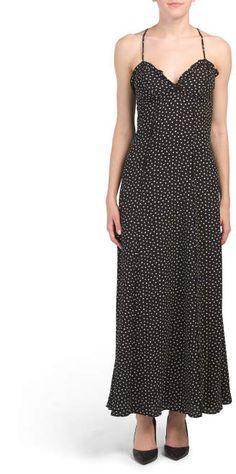 Printed Bubble Crepe Maxi Dress - Clearance - T. Ruffle Trim, Ruffles, Dress Outfits, Maxi Dresses, Mens Activewear, Tj Maxx, Shirt Shop, Active Wear, Clothes For Women