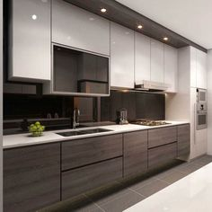 add some techy feel to your kitchen with this design that surely incites a healthy dose of desire in the hearts of all who are opportune to get to this part - Images Of Modern Kitchen Designs