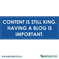 Content is still King.  Having a blog is important. If you are struggling to think of topic ideas, consider answering some questions you get asked a lot. Create blog posts that answer the most interesting questions from people you engage with on social media.