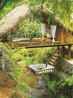 Tree house anyone? phiplanet Tree house anyone? Tree house anyone? Outdoor Spaces, Outdoor Living, Outdoor Bedroom, Outdoor Retreat, Bali Retreat, Outdoor Lounge, Backyard Retreat, Yoga Retreat, Backyard Ideas